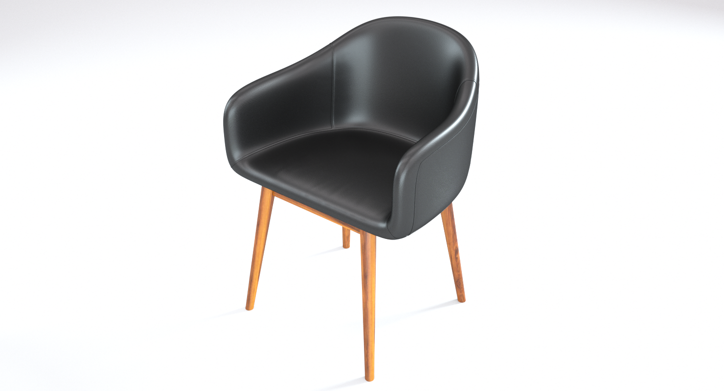 Black Leather Loft Chair