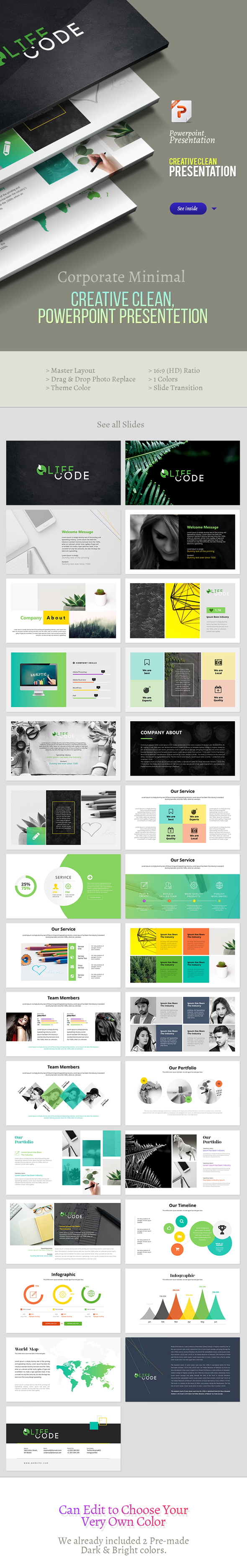 Clean & Creative Powerpoint Presentation - Creative PowerPoint Templates