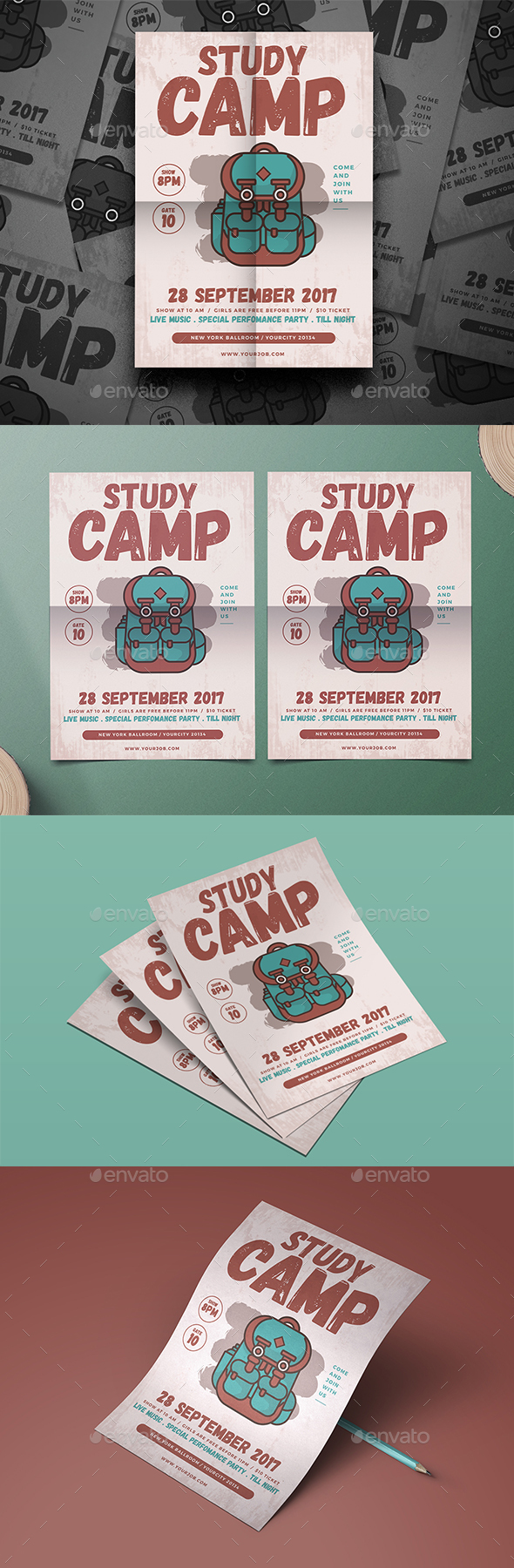 School Camp Flyer - Events Flyers