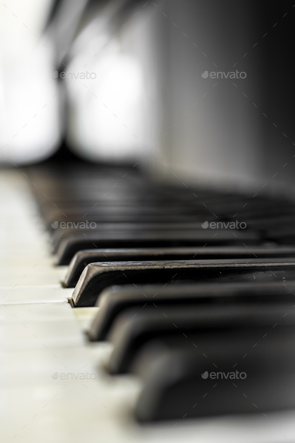 Piano keys with shallow DOF - Stock Photo - Images