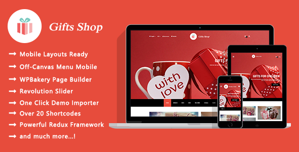 Gifts Shop – Responsive WooCommerce WordPress Theme