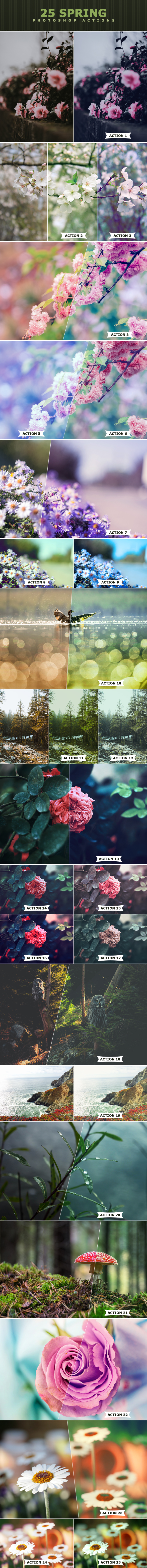25 Spring Photoshop Actions - Photo Effects Actions