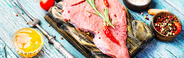 Raw meat selection - Stock Photo - Images