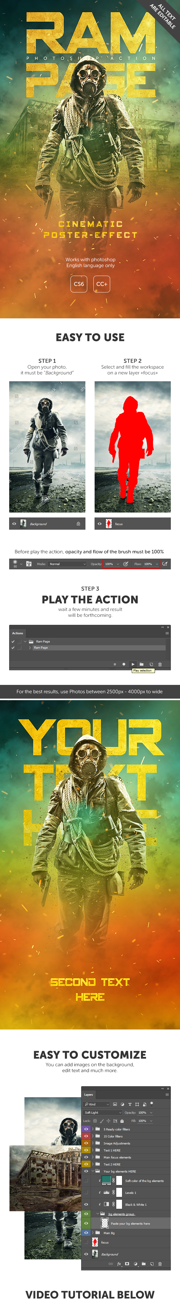 Ram Page - Photoshop Action - Photo Effects Actions