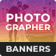 Wedding Photographer HTML5 Banner Ad Templates (GWD)