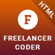 Freelancer Coder – One Page Responsive Portfolio Template - ThemeForest Item for Sale