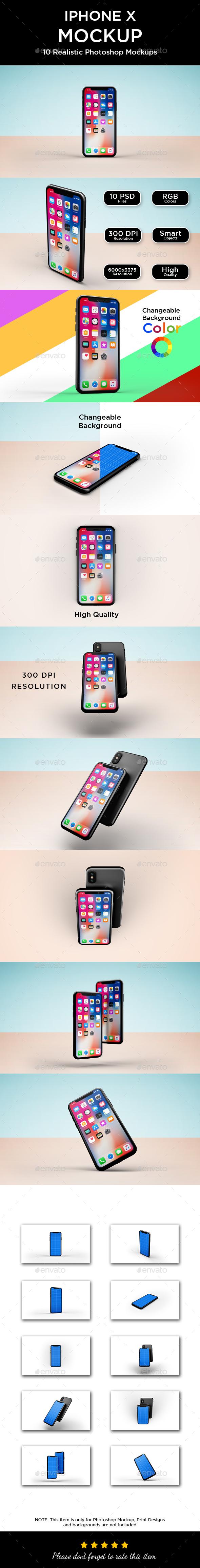Phone X Mockup - Mobile Displays