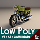 Low-Poly Cartoon Motorcycle