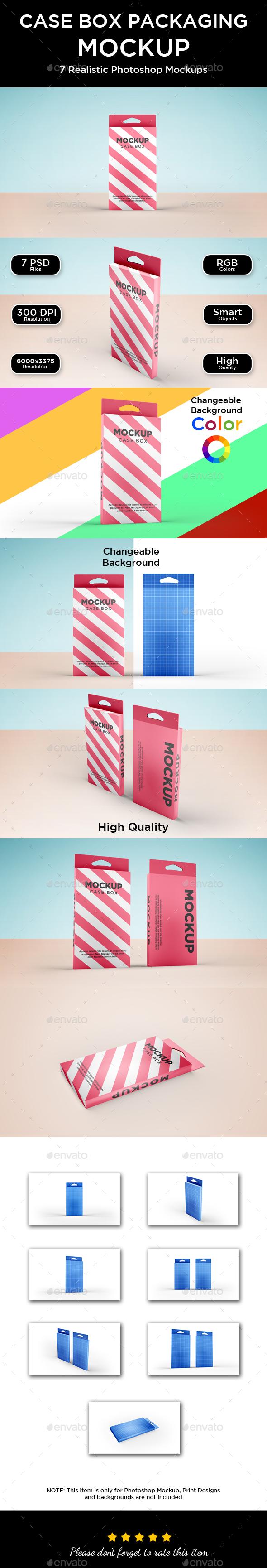 Case Box Packaging Mockup - Packaging Product Mock-Ups
