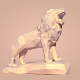 Low Poly Lion Statue