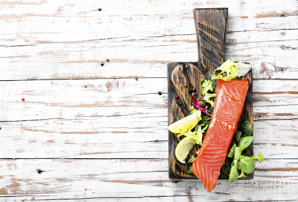 Delicious salmon fillet - Stock Photo - Images
