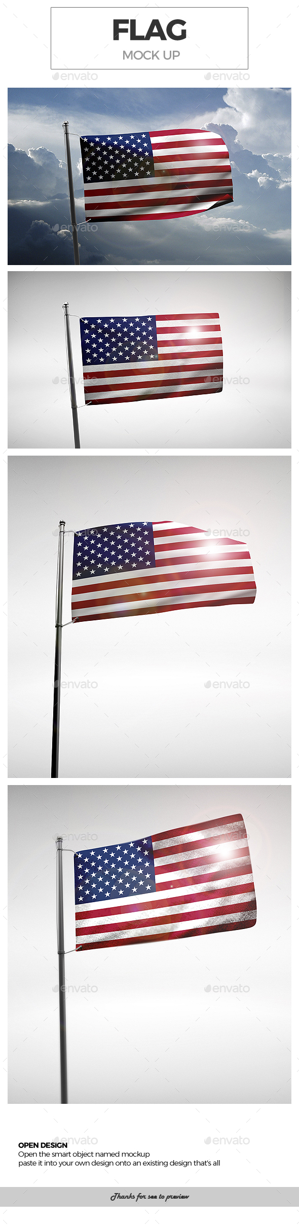 Flag Mock-Ups - Miscellaneous Packaging