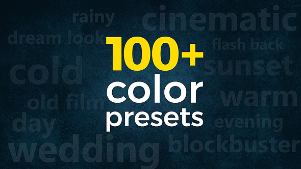 3-in-1 Pack: 100+ Cinematic & Wedding Color Presets Premiere Pro Templates - Free download