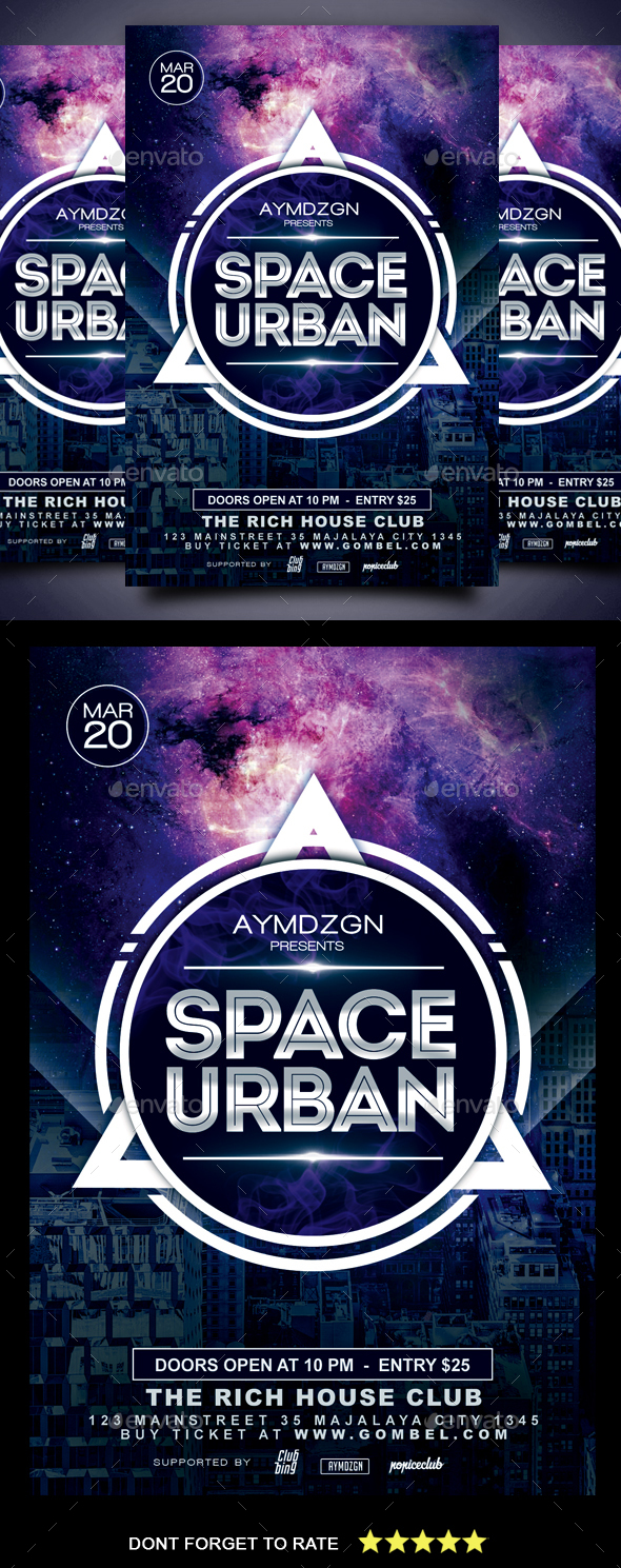 Space Urban Flyer - Clubs & Parties Events