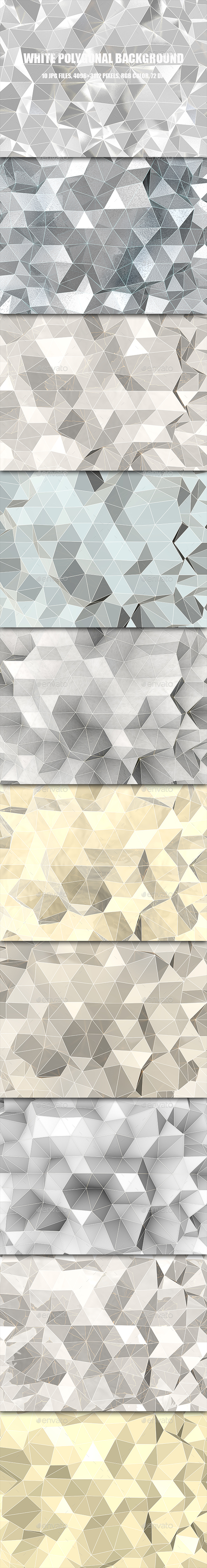 White Polygonal Background - 3D Backgrounds