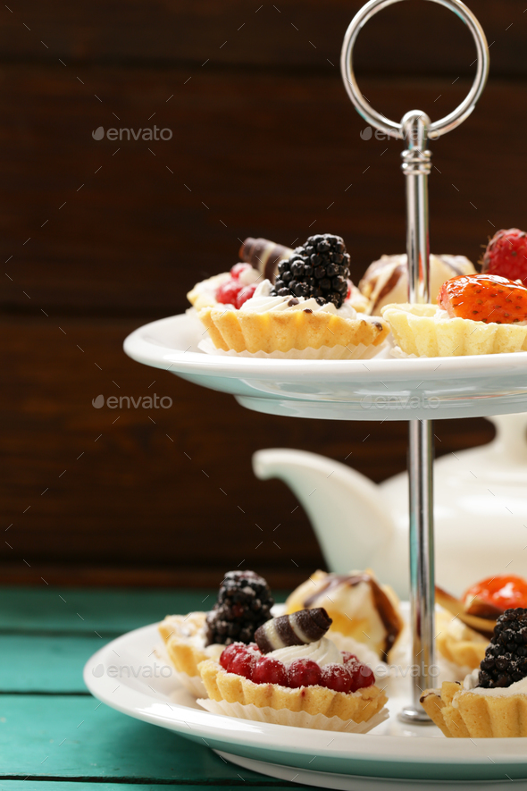 Mini Dessert Tarts - Stock Photo - Images