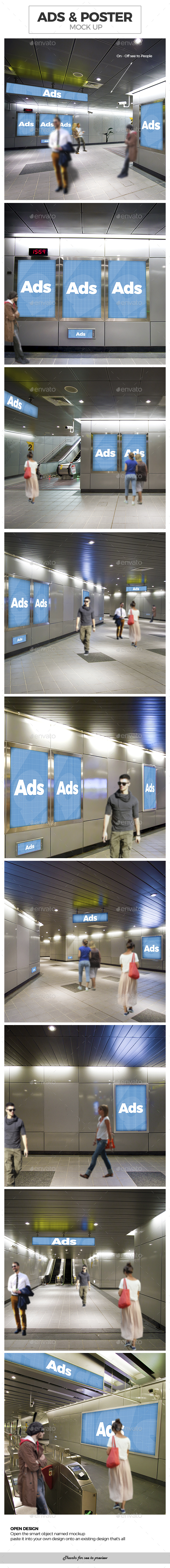 Ads Poster Billboard Mockups - Miscellaneous Apparel