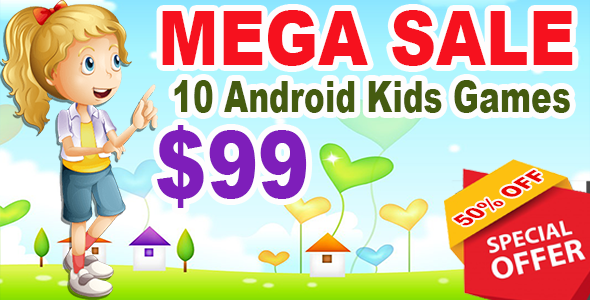 Kids Best 10 Mega Games - Game For Kids - Android Studio - Ready For Publish - CodeCanyon Item for Sale