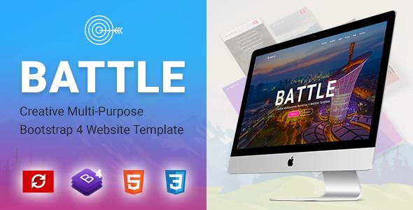 BATTLE - Creative Multi-Purpose Bootstrap Template - Site Templates