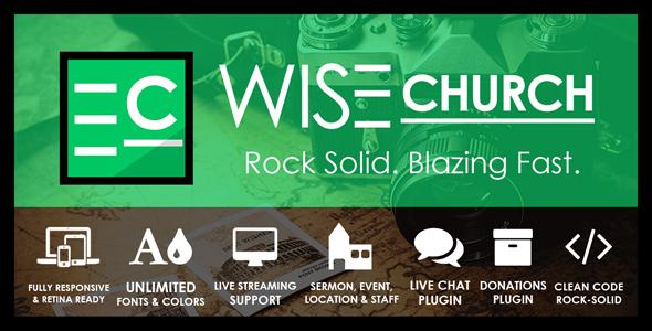 Image of Wise Church – The Wisest Multi-Purpose Church WordPress Theme