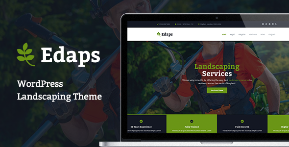 Edaps - WordPress Landscaping Theme - Business Corporate