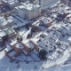 Aerial View Snow-covered City in Winter - VideoHive Item for Sale