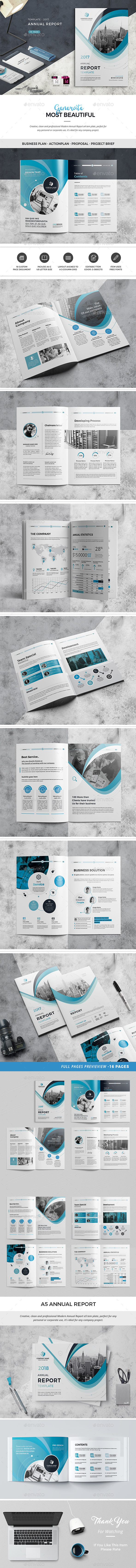 Annual Report Template 01 - Corporate Brochures
