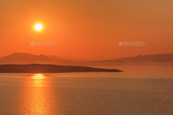 sunrise in Ionian Islands - Stock Photo - Images