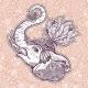 Seamless Pattern Paisley Elephant Ornament