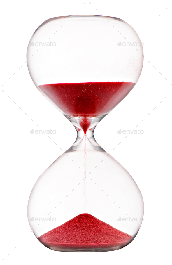 Sand running through an hourglass - Stock Photo - Images