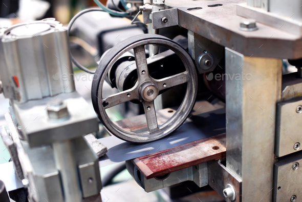 Close up of wheel in machine - Stock Photo - Images