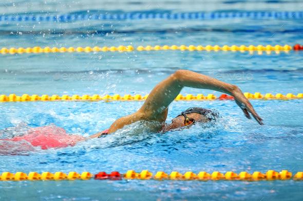female athlete swimmer - Stock Photo - Images
