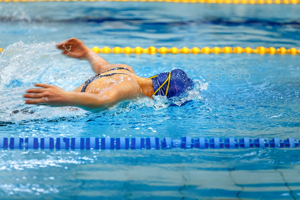 female athlete swimmer - Stock Photo - Images
