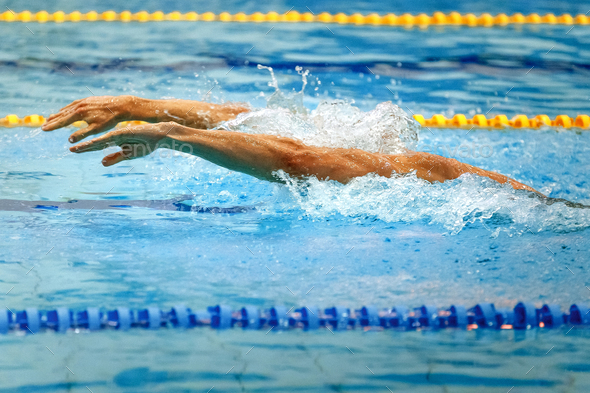 hands athlete swimmer - Stock Photo - Images
