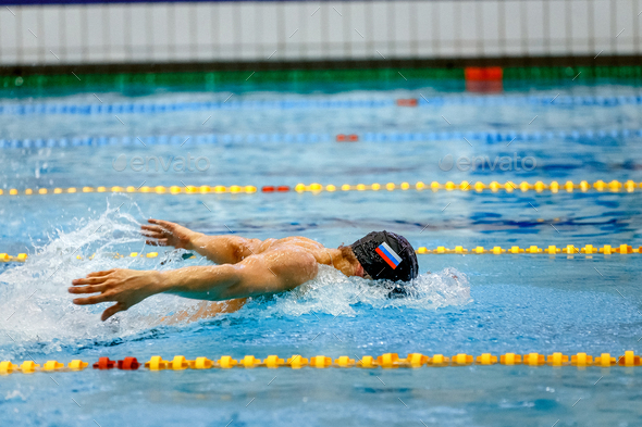 russian athlete swimmer - Stock Photo - Images