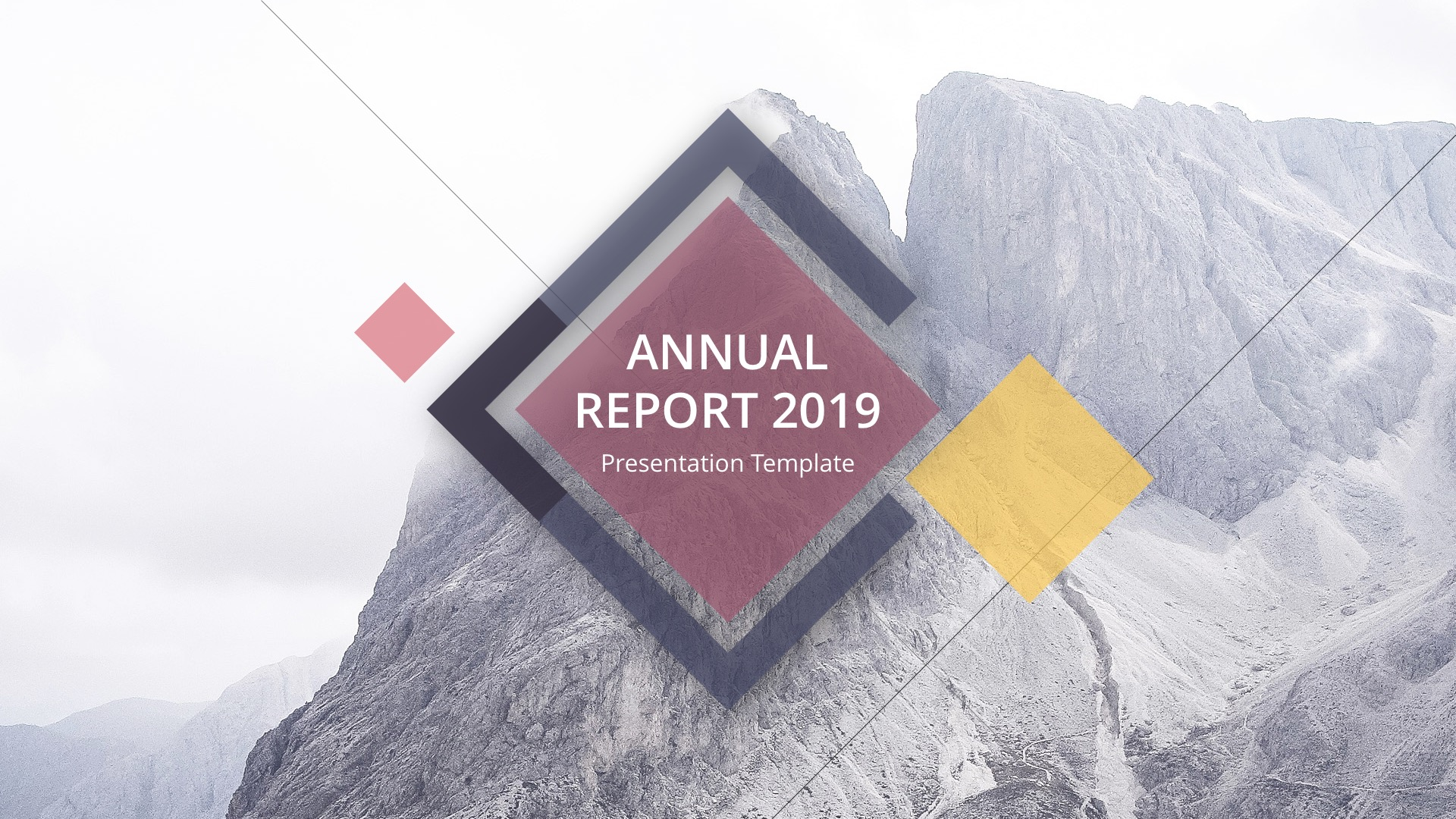 Annual Report 2019 - Business Google Slide Template