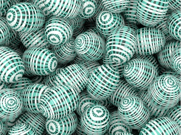 Colorful Easter Eggs Background - 3D Backgrounds