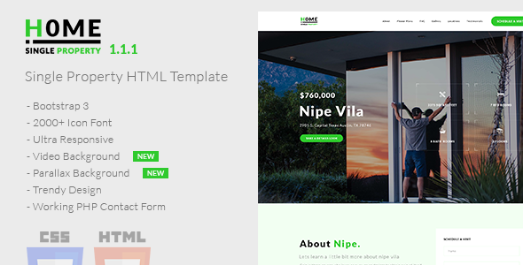 Image of Home - Single Property HTML Template