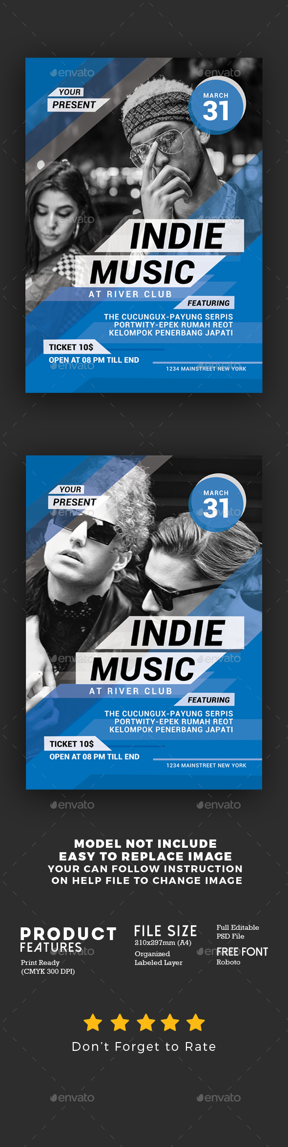Indie Music Event Flyer - Events Flyers
