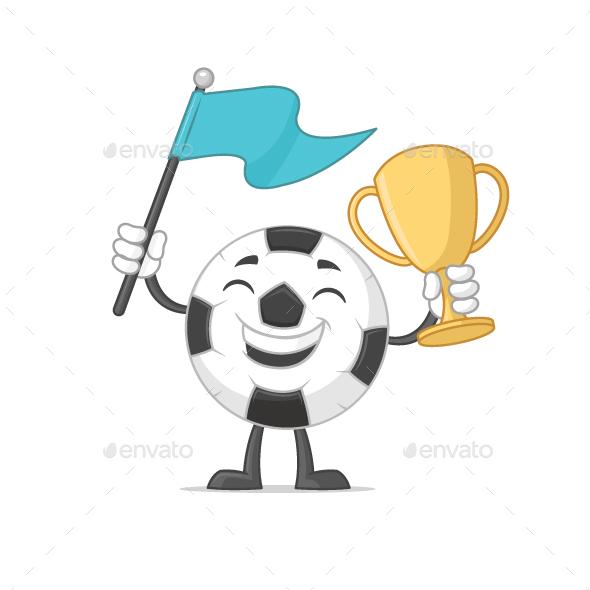 Football Cup Winner - Soccer Ball - Sports/Activity Conceptual