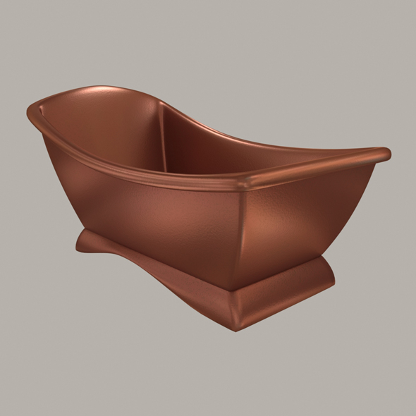 model of a modern copper bath - 3DOcean Item for Sale