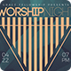 Modern Minimalist Worship Night Flyer Template - GraphicRiver Item for Sale