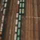 Railway Yard with a Lot of Railway Lines and Freight Trains - VideoHive Item for Sale