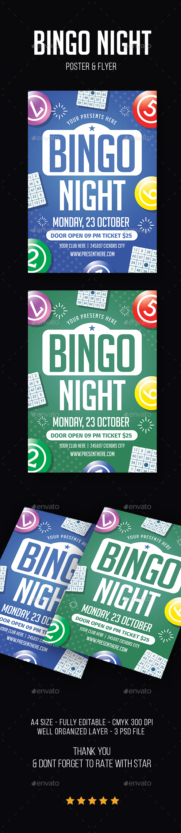 Bingo Night Flyer - Flyers Print Templates
