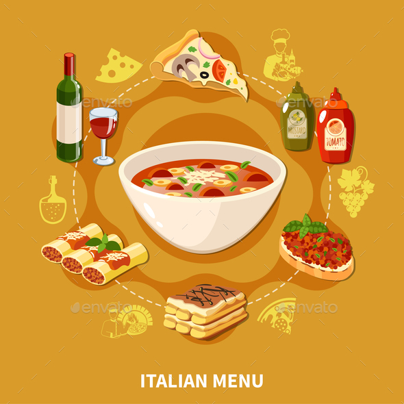 Italian Cuisine Set - Food Objects