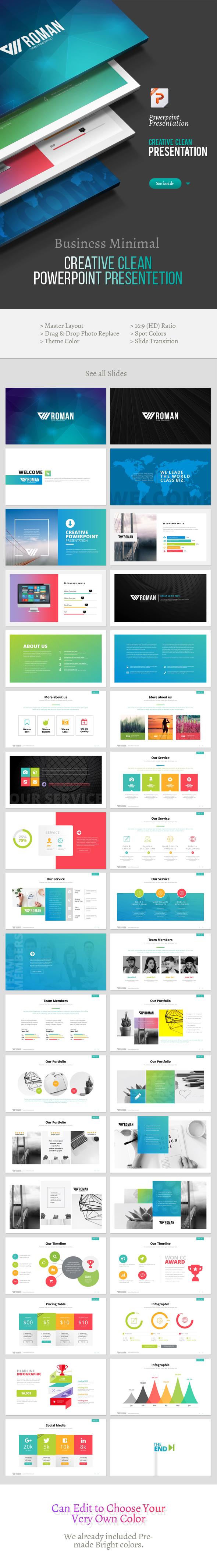 Creative Roman Powerpoint Template - Creative PowerPoint Templates
