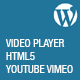 Video Player HTML5 Youtube Vimeo - Wp Plugin - CodeCanyon Item for Sale