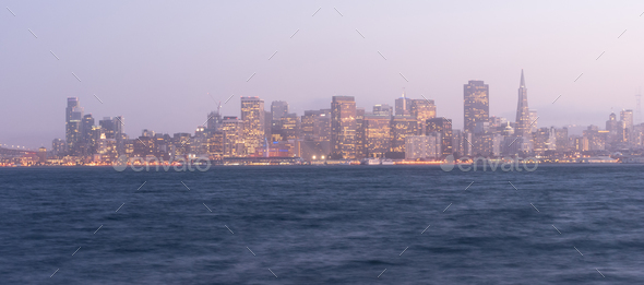 Waterfront Downtown City Skyline Port San Francisco California  - Stock Photo - Images