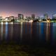 Lake Merritt Adams Point Downtown City Skyline Night Oakland California - PhotoDune Item for Sale