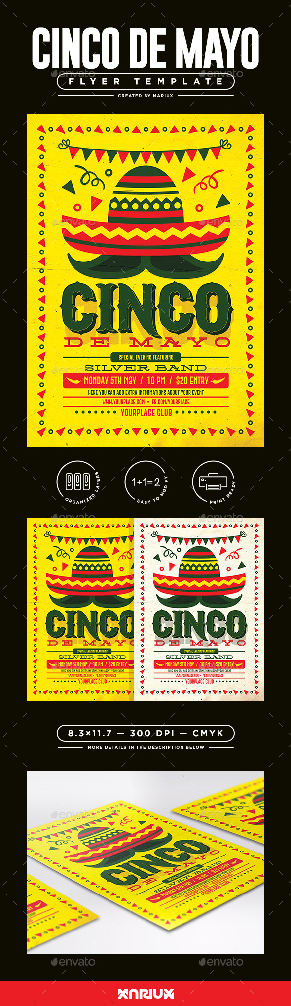 Cinco de Mayo Flyer/Poster - Events Flyers